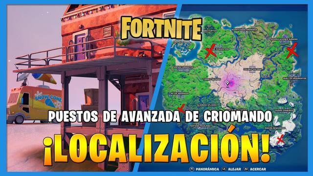 Fortnite: dónde encontrar los puestos de avanzada de Criomando