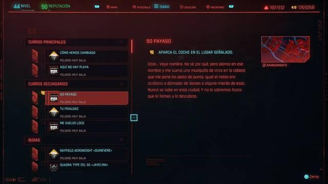 So payaso en Cyberpunk 2077 al 100%
