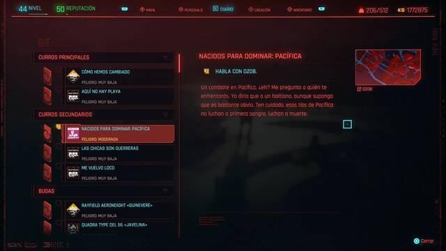 Nacidos para dominar: Pacífica en Cyberpunk 2077 al 100%