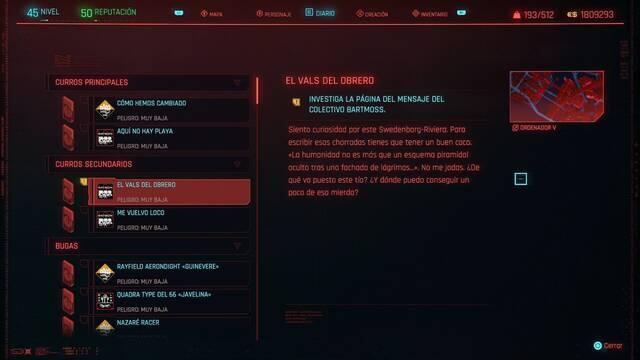 El vals del obrero en Cyberpunk 2077 al 100%