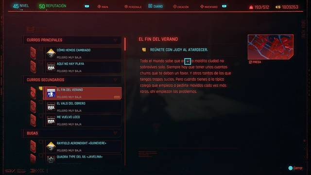 El fin del verano en Cyberpunk 2077 al 100%