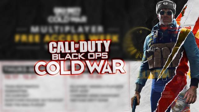COD Black Ops Cold War ofrece gratis su multijugador por tiempo limitado