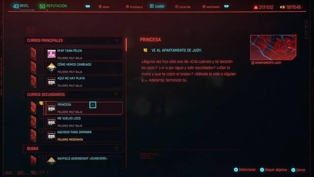 Princesa en Cyberpunk 2077 al 100%