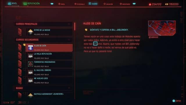 Hijos de Caín / Cuando brille el sol en Cyberpunk 2077 al 100%
