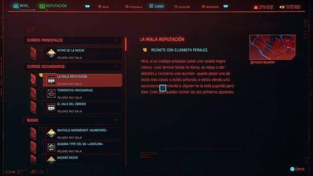 Mala reputación en Cyberpunk 2077 al 100%
