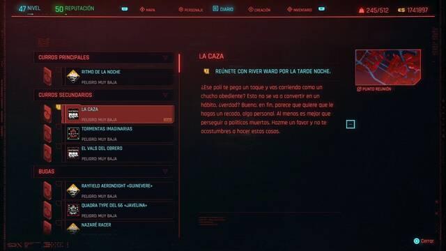 La caza en Cyberpunk 2077 al 100%