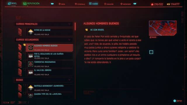 Algunos hombres buenos en Cyberpunk 2077 al 100%