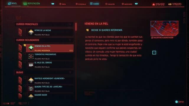 Veneno en la piel en Cyberpunk 2077 al 100%