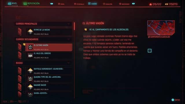 El último vagón en Cyberpunk 2077 al 100%