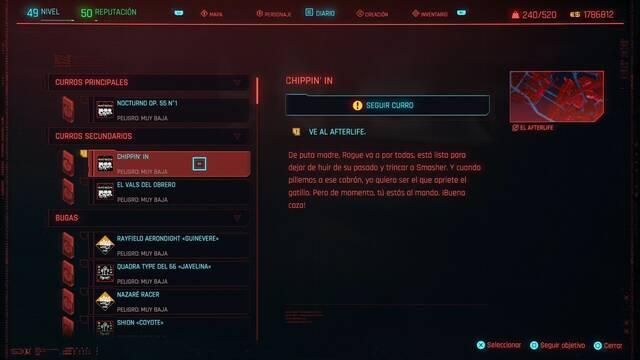 Chippin' in en Cyberpunk 2077 al 100%