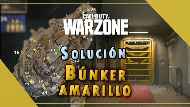 COD Warzone: Búnker amarillo en Isla del Renacer; maletines, fotos y códigos