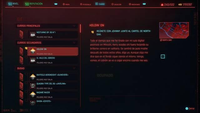 Holdin' on en Cyberpunk 2077 al 100%