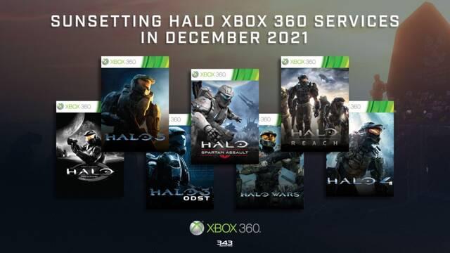 Los juegos de Halo en Xbox 360 perderán sus funciones online el año que viene.