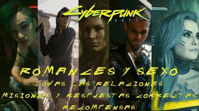 TODOS los romances y sexo en Cyberpunk 2077