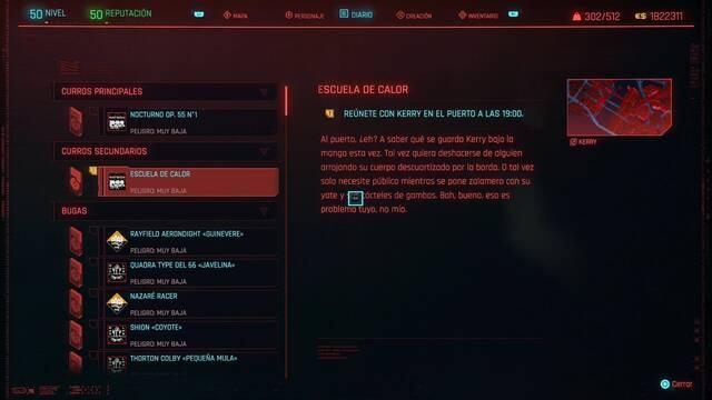 Escuela de calor en Cyberpunk 2077 al 100%