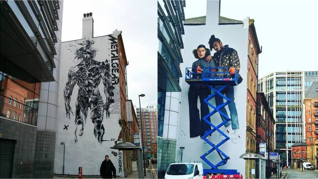 Borran un mural de Metal Gear Rising