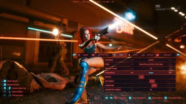 Modo foto de Cyberpunk 2077.