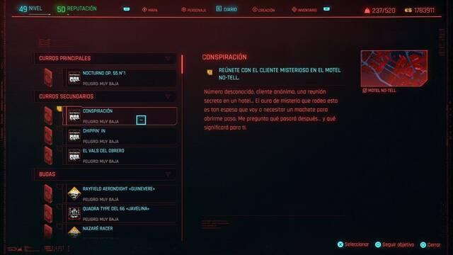 Conspiración en Cyberpunk 2077 al 100%