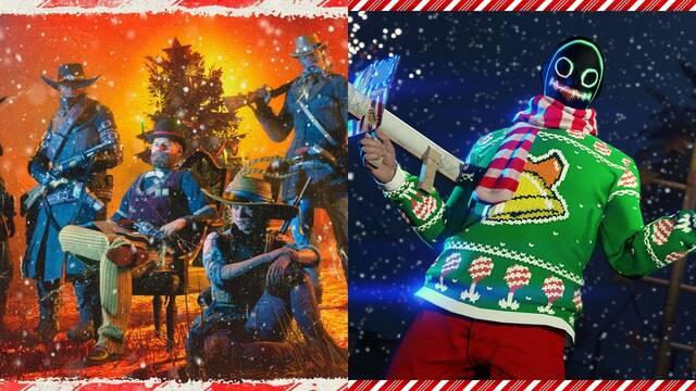 Actualizaciones de Navidad de Red Dead Online y GTA Online.