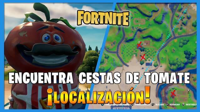 Fortnite:  Recoge cestas de tomate - LOCALIZACIÓN