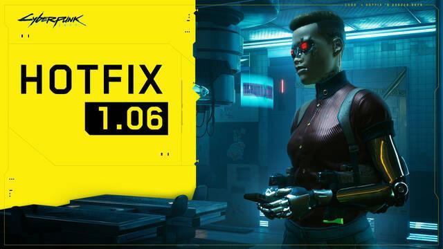 Cyberpunk 2077 actualización 1.06 solución de errores consolas y PC