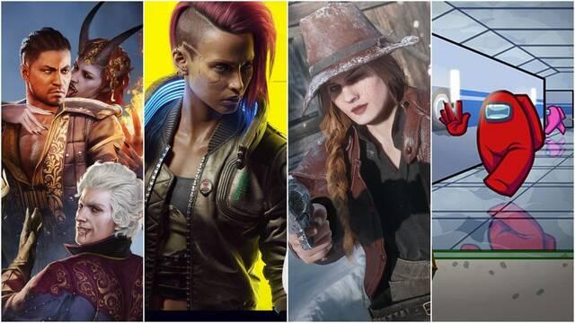 Videojuegos más vendidos y jugados en Steam en 2020.