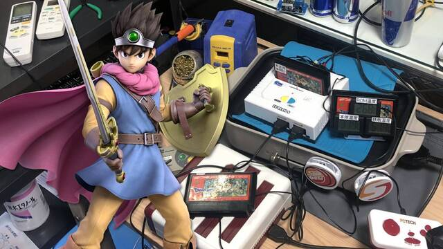 Speedrun de Dragon Quest 3 mientras calienta la consola en una plancha.