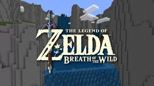 Mapa de Zelda: BOTW en Minecraft.