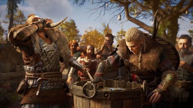 Eivor siempre está borracha por culpa de un bug de Assassin's Creed Valhalla.