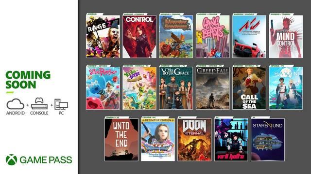 Xbox Game Pass nuevos juegos para diciembre 2020