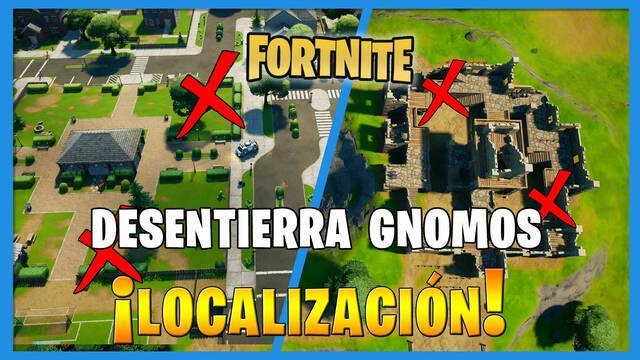 Fortnite: dónde encontrar gnomos en Fortín Ruinoso y Parque Placentero