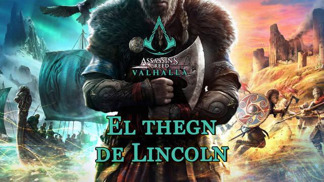 El thegn de Lincoln al 100% en Assassin's Creed Valhalla