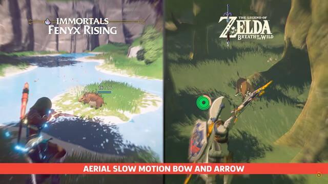Comparación entre Breath of the Wild e Immortals Fenyx Rising
