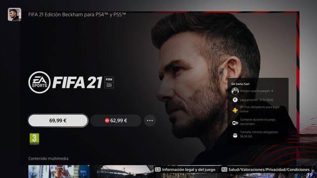 FIFA 21 actualizar de PS4 a PS5