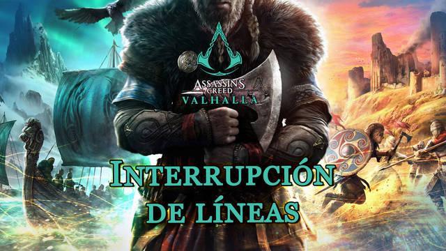 Interrupción de líneas al 100% en Assassin's Creed Valhalla
