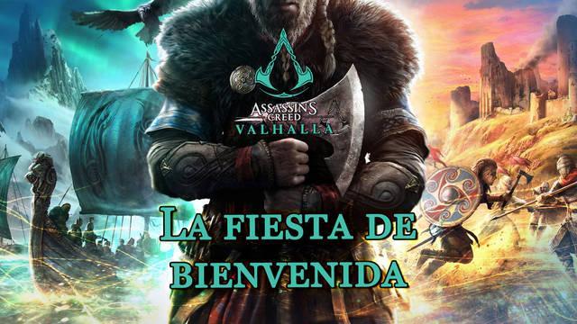 La fiesta de bienvenida al 100% en Assassin's Creed Valhalla