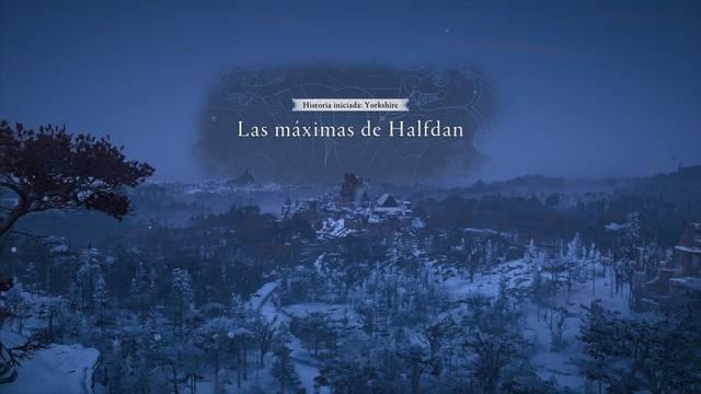 Las máximas de Halfdan al 100% en Assassin's Creed Valhalla