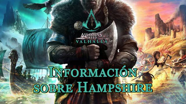 Información sobre Hampshire al 100% en Assassin's Creed Valhalla