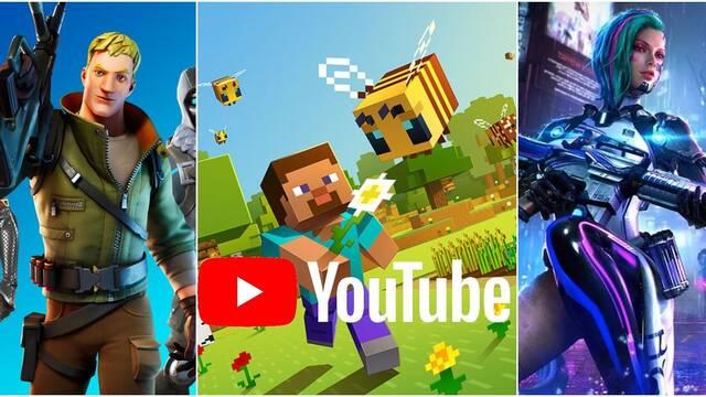 YouTube y los juegos más populares de 2020