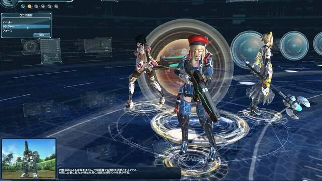 El editor de personajes y combates en nuevas imágenes de Phantasy Star Online 2