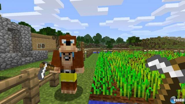 El primer pack de skins de Minecraft incluirá personajes de Rare