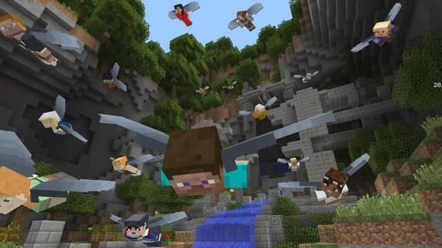 El mini juego aéreo 'Glide' para Minecraft llega a la edición de consola