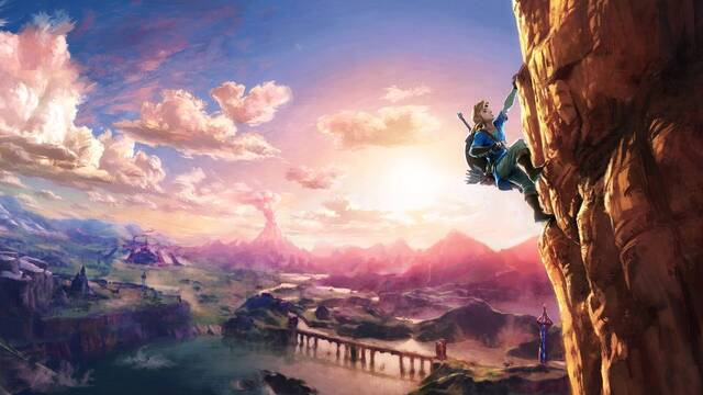 Zelda iba a tener un sistema para ayudarse en la escalada con las armas