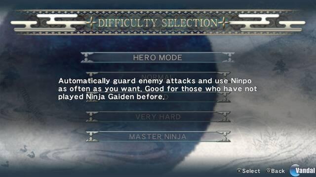 Ninja Gaiden Sigma Plus muestra sus opciones en nuevas imágenes