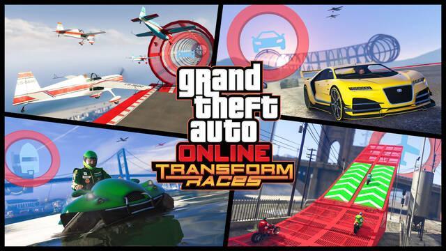 GTA Online muestra sus 'Transform Races' en un nuevo tráiler