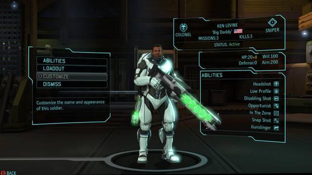 Ken Levine, padre de BioShock, es un personaje en XCOM: Enemy Unknown