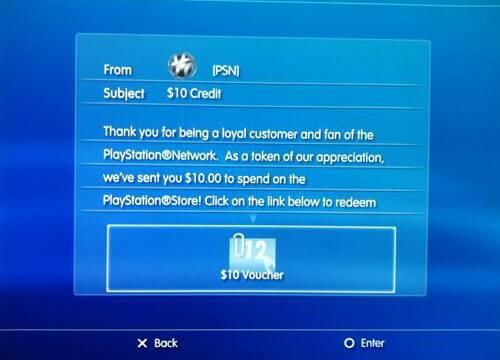 Sony estaría regalando 10 dólares en descargas a algunos usuarios de PlayStation Network