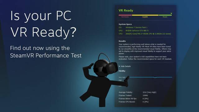 Valve lanza una aplicación para comprobar si tu PC está preparado para la realidad virtual