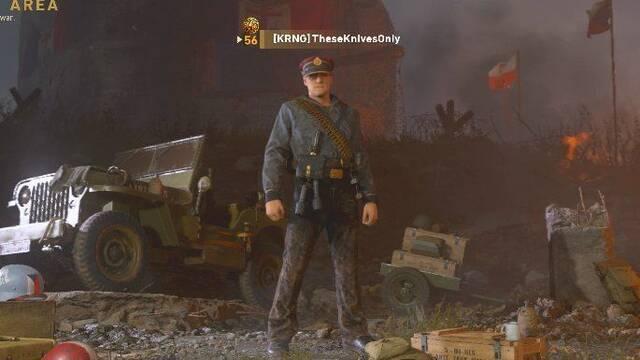 Alcanzan el rango máximo de Call of Duty: WWII usando solo el cuchillo