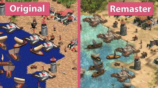 Comparan los gráficos del Age of Empires original con la Definitive Edition
